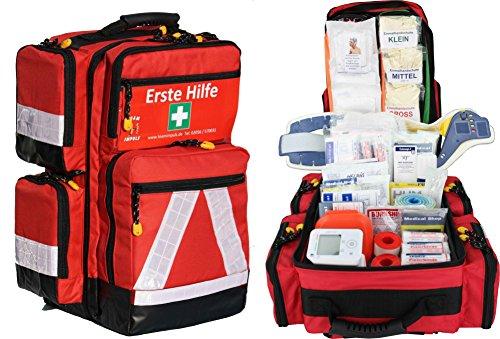 Erste Hilfe Notfallrucksack Sport Freizeit & Event mit 4 Außentaschen (Badartikel)