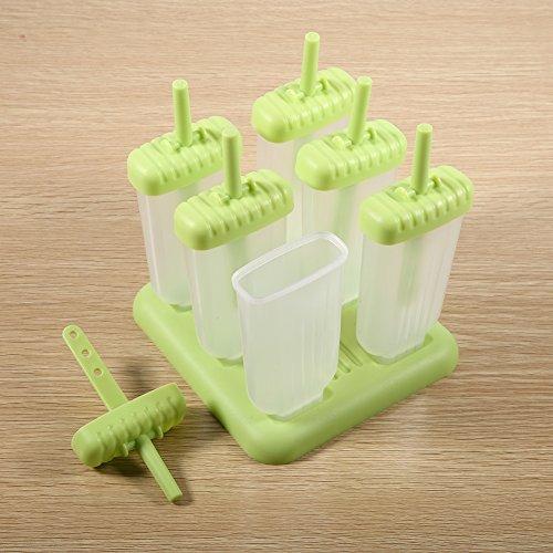 $ Set 6 Tazze Stampi Congelati/ Stampo Pratica di Plastica per la Produzione di Gelato, Succhi di Frutta Congelati e Bevande Miste ( Colore : Verde , dimensione : Popsicle shape ) confronta il prezzo online