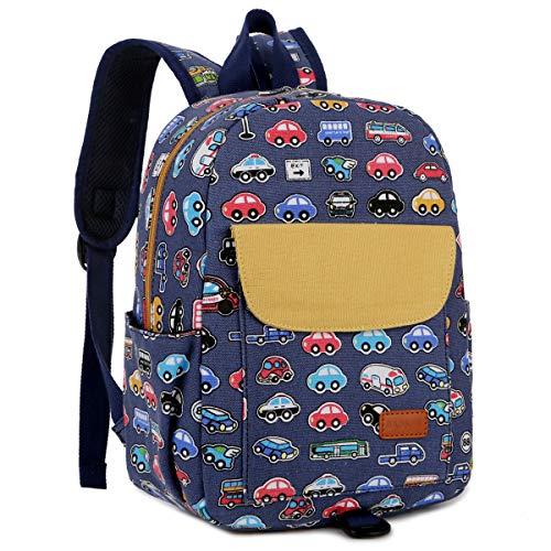 BAOSHA KD-01 Kinderrucksack Babyrucksack Kindergartenrucksack Kindergartentasche Backpack Schultasche Kinder Mini Backpack Fur Kindergarten Kleinkind Kind Vorschule mit Brustgurt (Blau Bus)