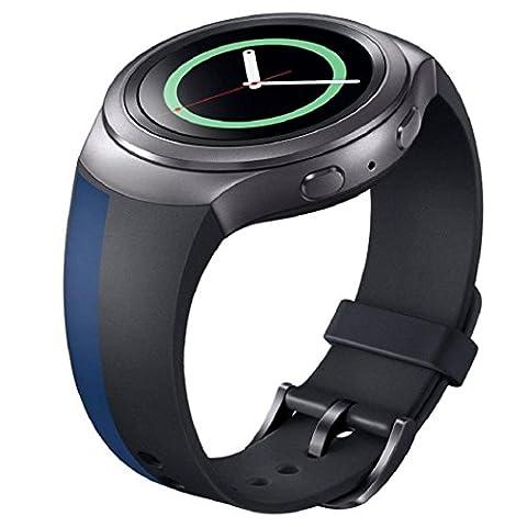 Sportuhr Band Silikon Bügel Kolylong für Samsung Galaxy Gear S2 SM-R720 Uhrenarmband b