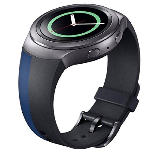 Sportuhr Band Silikon Bügel Kolylong für Samsung Galaxy Gear S2 SM-R720 Uhrenarmband b (Licht Camping-womens)