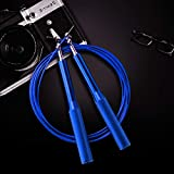 FUNCUBE Skipping Rope Wire Speed Jump Rope Adjustable with Balls Bearing for Crossfit
