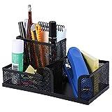 Absales Metal Mesh Multi Functional Pen Stand,Black