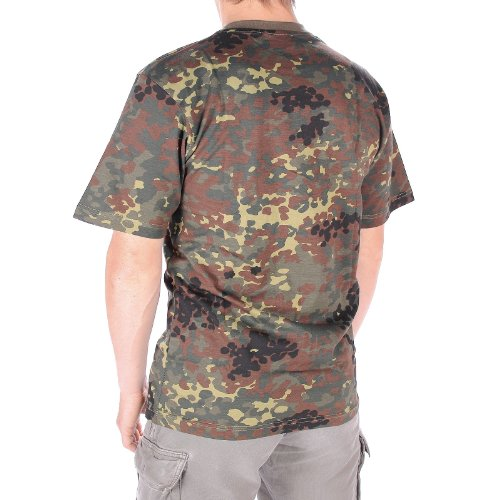 Mil-Tec Herren Nva Strichtarn T-Shirt flecktarn