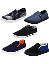 Bersache Men Combo Pack of 5 Casual Loafer Shoe with Sneaker