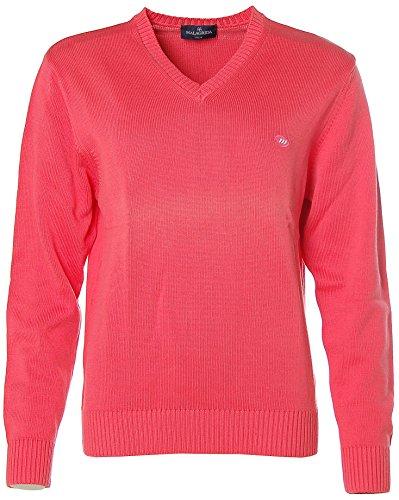 Malagrida-V Pullover da uomo in maglia Rosso aragosta L