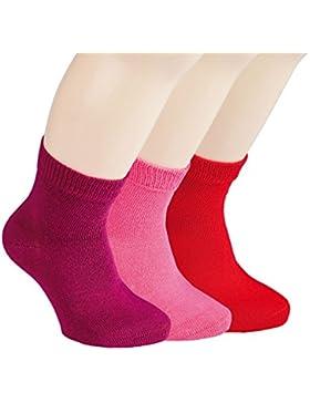 Vitasox Kinder Jungen Mädchen Socken Kindersocken für einfarbig ohne Naht