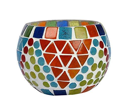 hnd00663 ethnique Yankee Candle Support décoratif Design en verre mosaïque