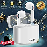 Wireless Earbuds, Wireless Earphones Bluetooth Earbuds Stereo with Mic Mini In-Ear Earbuds Earphones