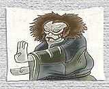 Tapisserie Kabuki Décoration Tapisserie, Personnage de théâtre avec Masque Asiatique Drama Oriental Geste par intérim, Tenture Murale pour Le dortoir du Salon, 80 W X 60 L, Multicolore...