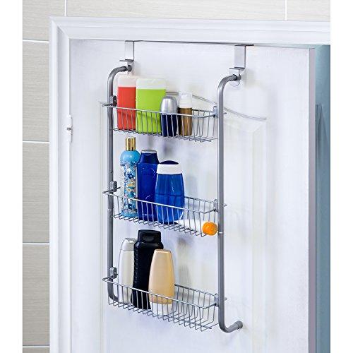 Artmoon climber cesto doccia portaoggeti mensola bagno caddy sopra porta acciaio 40x13.5x77cm