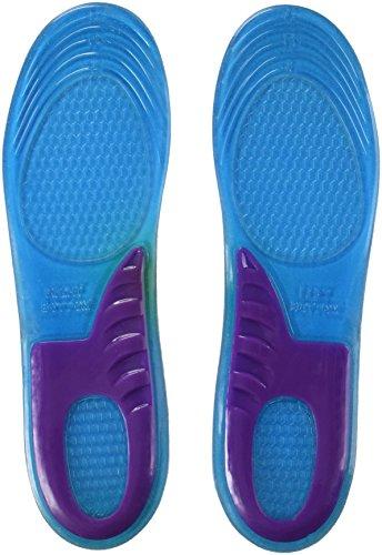SWT Hochwertige, orthopädische Gel-Einlegesohlen für Herren, mit Massageeffekt und Stützung der Fußwölbung