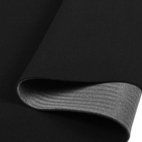 Preisvergleich Produktbild Himmelstoff Autostoff Polsterstoff Bezugsstoff kaschiert Farbe: Schwarz SAM189 T189 03
