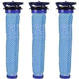 KEEPOW 3 Stück Filter Ersatz für Dyson V8 V7 V6, DC58, DC59, DC61, DC62 Staubsauger Waschbar & Wiederverwendbar Vorfilter Ersatzteil für Dyson