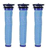 Filtre pour Dyson V8 V7 V6 DC62 Aspirateur #DY-965661-01, Keepow Filtre Mélange de Matériaux Standard Bleue, Lot de 3
