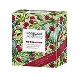 BIO:VÉGANE SKINFOOD LIMITED EDITION BOX Bio Cranberry mit Reinigungsschaum, 24h Pflege und Tuchmaske; vegan, NATRUE-zertifiziert, Naturkosmetik für normale bis trockene Haut (gesamt 166ml)