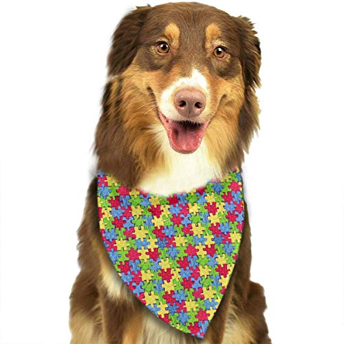 Sdltkhy Puzzles Pet Bandana Washable Reversible Triangle Bibs Scarf - Kerchief for Small/Medium/Large Dogs & - Dackel Kostüm Zum Verkauf