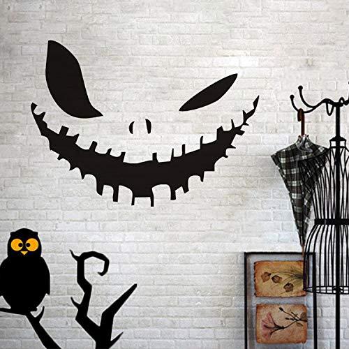 huangyuzzzz Wandaufkleber Für Schlafzimmer Wohnzimmer Wohnkultur Wasserdicht Zubehör Tapete Kürbis Gesicht Happy Halloween Party Decals Modern