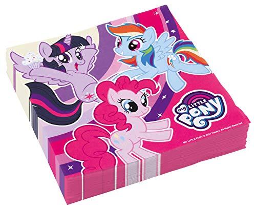 Kostüm My Little Pony Spiele - Amscan International 9902510 Servietten My Little Pony, 20 Stück, für Kindergeburtstag oder Mottoparty