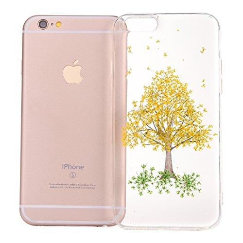 Wkae Epoxy Dripping gepresste echte getrocknete Blume weiche transparente TPU Schutzhülle für iPhone 6 & 6s ( SKU : Ip6g2996c ) Ip6g2996a
