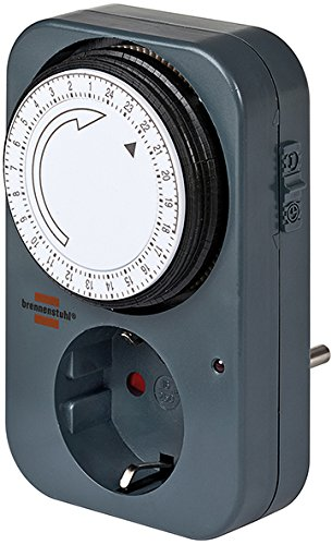Brennenstuhl Mechanische Zeitschaltuhr MZ 20, 1506450 (5 Stück, Schwarz)