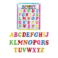 The Home Fusion Company Magnetic Capital Letters Childrens Kids Learn Alphabet Toy Fridge Magnets