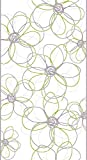 Livingwalls panel autoadhesivo Pop Up Panel gris verde blanco 2,50 m x 0,35 m 942533