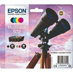 Epson C13T02V64010 Encre (4) approprié pour XP5100 multicolore 1x 4, 6ml noir + 3x 3, 3ml couleur