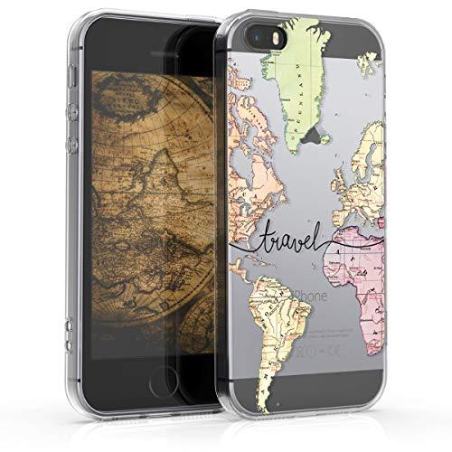 kwmobile Apple iPhone SE / 5 / 5S Hülle - Handyhülle für Apple iPhone SE / 5 / 5S - Handy Case in Schwarz Mehrfarbig Transparent