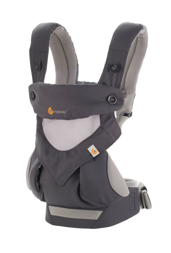 Ergobaby Baby Carrier for Toddler, 360 Cool Air Carbon Grey, 4-Position Ergonomic Child Carrier and Backpack Ergobaby Ergonomic baby carrier for the summer, with 4 ergonomic carry positions: front-inward, back, hip, and front-outward. The carrier is suitable for babies and toddlers weighing 5.5-15 kg, and can be used as a back carrier. Also with insert for newborn babies weighing 3.2-5.5 kg (7-12 lbs), sold separately. NEW - The waistbelt with lumbar support can be worn a little higher or lower to support the lower back and provide optimal comfort, and has adjustable padded shoulder straps. The carrier is suitable for men and women. Maximum baby comfort - Breathable 3D air mesh material provides an optimal temperature for your baby on warm days. The structured bucket seat supports the correct frog-leg position for the baby. The carrier also has a neck support and privacy hood with 50+ UV sun protection. 2