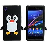 SKS Distribution noir Mignon Pingouin Manchot Etui Coque Housse Pour Sony Xperia Z1
