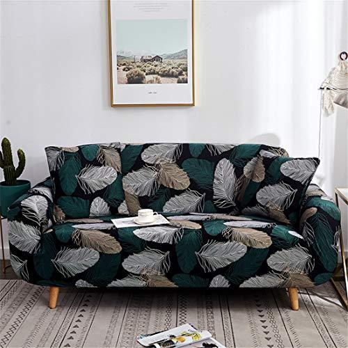Odot copridivano elastico, copridivano salotto protettore imbottito sofa antiscivolo ideale per poltrone mobili copridivano (3 posti: 195-230cm,piuma)