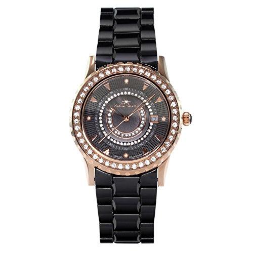 Stella Maris Damen-Armbanduhr Analog Quarz Premium Keramik Diamanten - STM15Z4