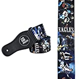 The Eagles Acoustic Electric Bass Adjustable Shoulder GUITAR STRAP Legendary Rock Country Band 70's 70s Bass Group Don Henley