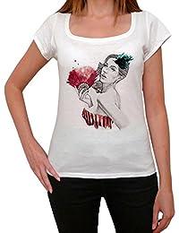 Fan Woman Vintage T-shirt Femme,Blanc, t shirt femme,cadeau