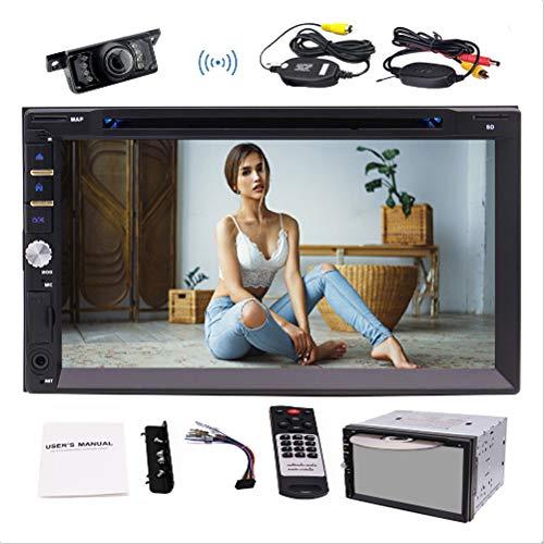 EINCAR 7-Zoll-Doppel-DIN-Touchscreen in Dash Bluetooth Autoradio-Auto DVD-Player 1080P Video Car Deck Audio Head Unit Aux in in Auto-Entertainment-System mit Wireless Rear Camera & Fernbedienung
