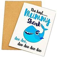 The Best Mummy Shark Doo Doo Doo Mother's Day Card - Baby Shark Mother's Day Card