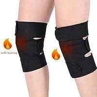 1 par de rodilleras de turmalina autocalefactables, acústica, terapia magnética, rodilla, soporte para la rodilla para artritis, dolor, masajeador de rodilla