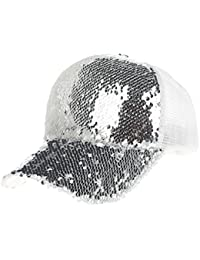 Cap Transer® Unisex Baseball Cap Brief Hut Sequins+Polyesterfaser Schwarz Blau Gold Pink Rosa Silber Hip Hop Mützen
