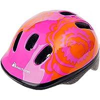 Casco de seguridad pequeño de bicicleta, para niños, color Red Flower, tamaño 44