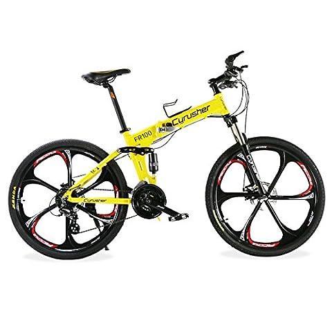 """VTT Pliant 26"""" Extrbici® FR100 Vélo de Montagne Pliable en Alliage d"""