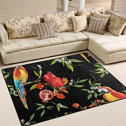 MALPLENA Malpela Fußmatte für Granatapfel und Papageien, Polyester, 1, 80 x 58 inch -