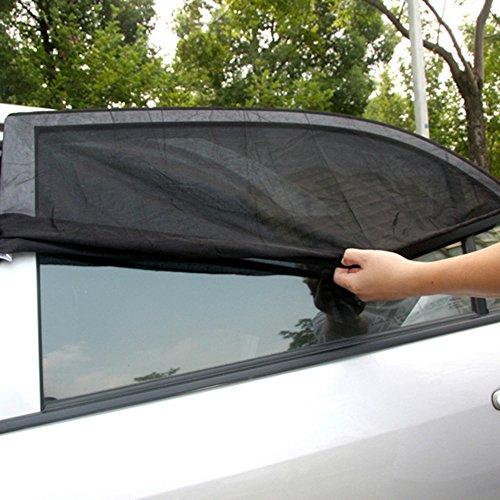 Lulalula 4pezzi auto finestra laterale parasole bambino, misura universale mesh traspirante auto parasole protector-protegge il bambino e cani dal sole calore e glare-adatta per la maggior parte delle auto e suv