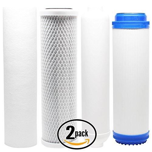 2er Pack Ersatz-Filter Kit für AquaSafe Qualitäts-II PRO RO System–inkl. Carbon Block Filter, Sediment Filter, GAC Filter & Inline Filter Kartusche–Denali Pure Marke (Ro Carbon Filter)