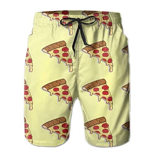OPoplizg Boys Board Shorts Pizza Cheese Color Quick Dry Swim Surf Trunks,L -