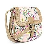 Lovely Lauri Mini Schultertasche zum Umhaengen Blumen Umhängtasche Muster Rosa