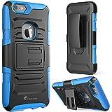 Apple iPhone 6 Plus / 6S Plus (5.5 Zoll Display) Hülle, i-Blason Prime Serie Schutzhülle mit Ständer und Gürtelklip Holster / Case (blau)