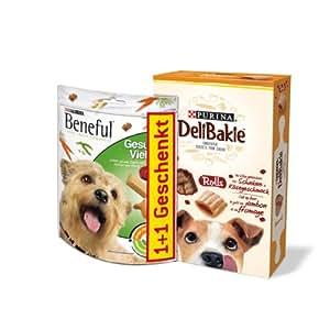 Beneful Hundesnack Hundesnack Gesunde Vielfalt, 150 g + DeliBakie Rolls, 320 g, 4 Packungen (4 x 470 g)
