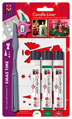 Marabu-180500083-Candle-Liner-Set-Xmas-Time-mehrfarbig