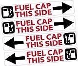4x Tankdeckel Seite Aufkleber Armaturenbrett Reminder Diesel Unverbleites Auto Van Truck Bus